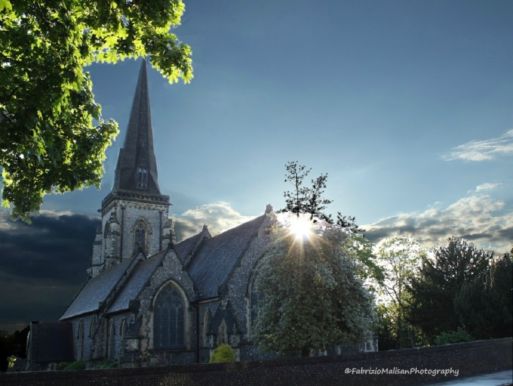 Evening Comes by St. Peters Church in South Croydon Surrey