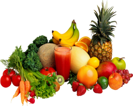 Vegan Food Fruits Vegetables Juices