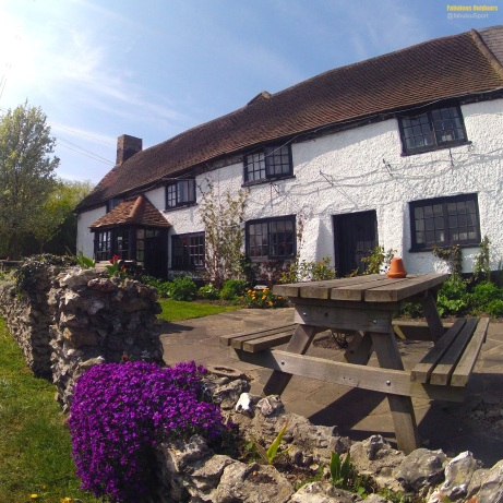Cycling the British Countryside White Bear Pub in Surrey