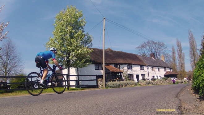 Cycling the British countryside Surrey White Bear Pub
