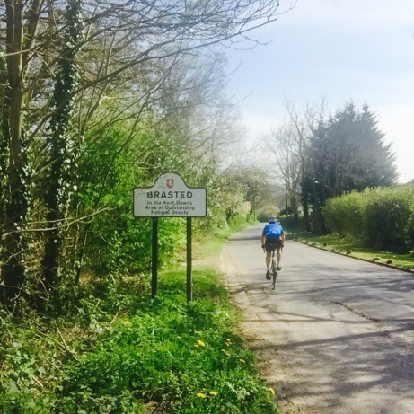 Cycling through Brasted  Area of Outstanding Natural. Beauty