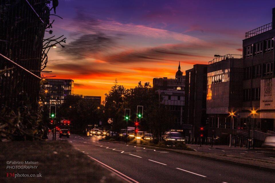 Beautiful Sunset over Croydon Surrey UK