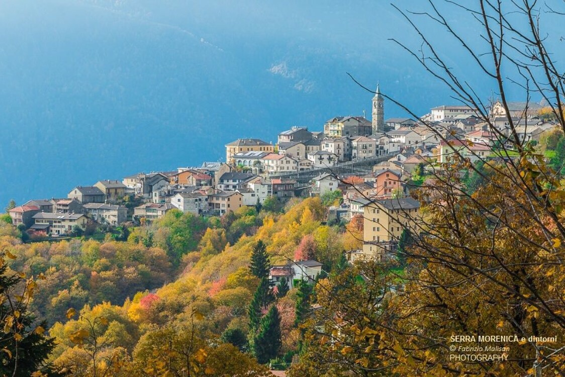 Autumnal view of Andrate in Piemonte, Italy