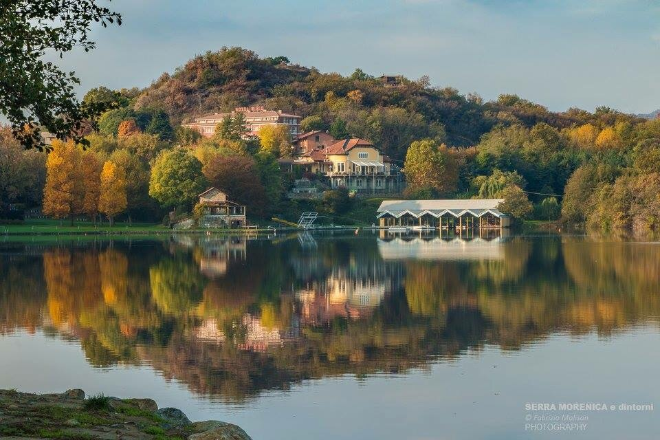 Autumn  reflections  at Lake Sirio of Ivrea (Turin)