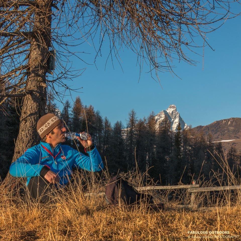 Mountain walks looking at Cervino Matterhorn