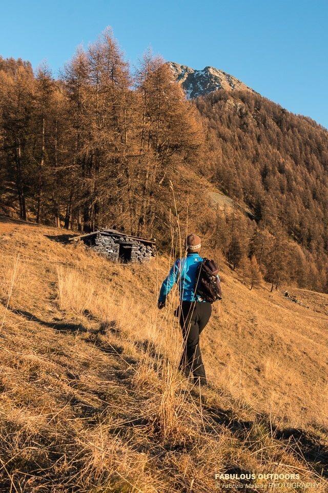 Mountain walk towards Mont Tantané Aosta Valley Italy
