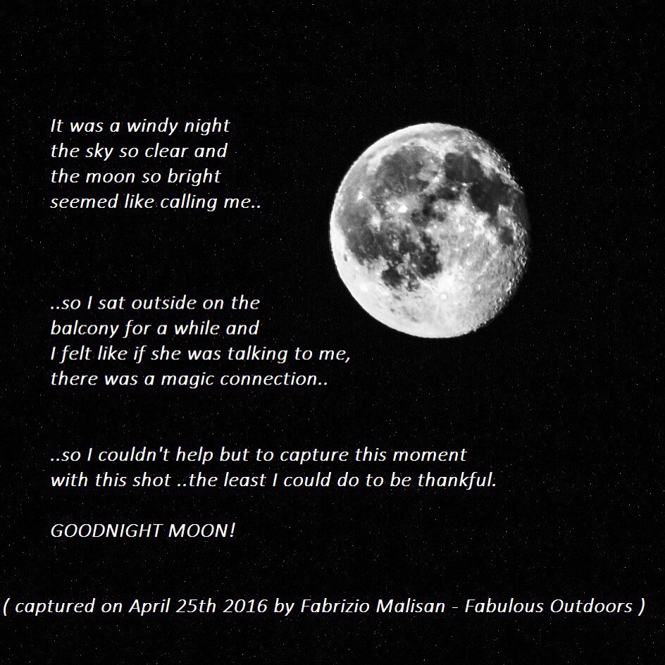Ode To The Moon Quote - Fabulous Outdoors