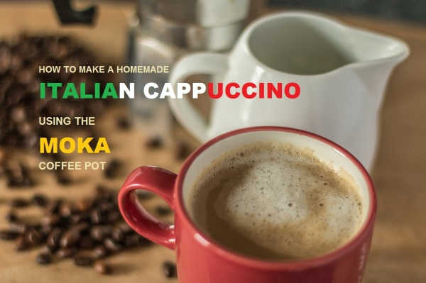 How To Make A Homemade Italian Cappuccino Using A Moka Coffee Pot