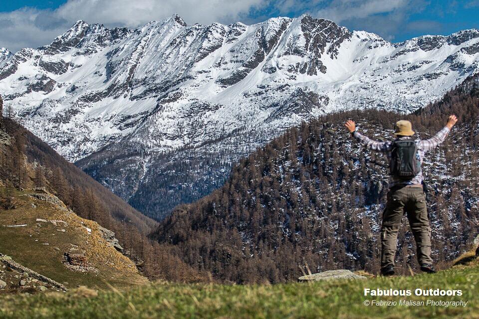 Hiking the mountains Gran Paradiso Natuonal Park