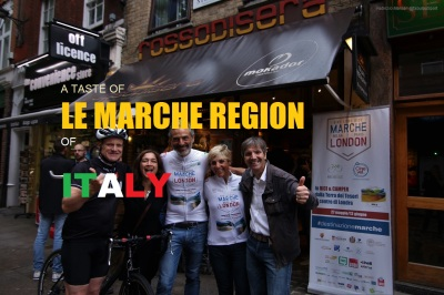 Marche Bike Ride London 2016 Long Ride Rosso di Sera
