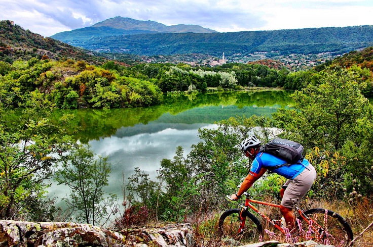 Mountain Bike in Canavese. Piemonte Italy