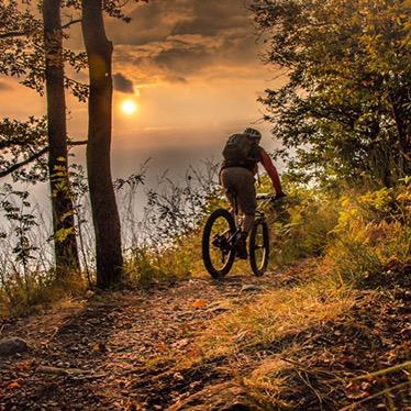 Mountain Biking at Sunset - Fabulous Outdoors