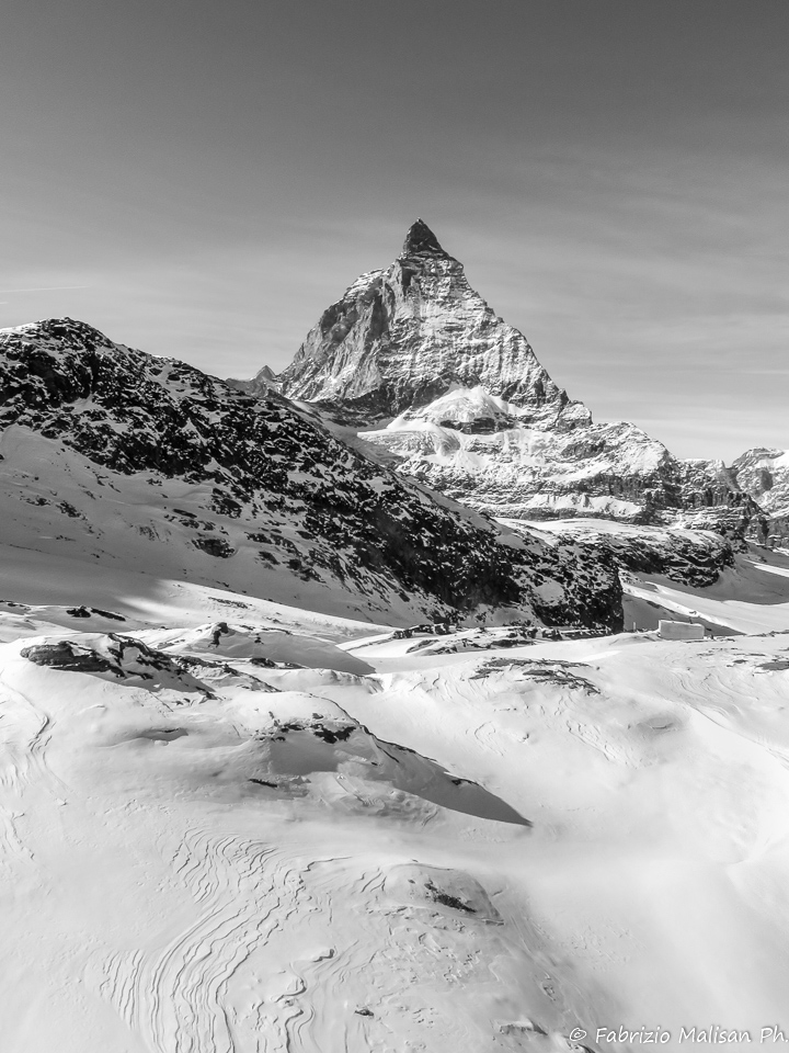 The Matterhorn Mountain Peak Zematt Plateau Rosa Glacier Switzerland