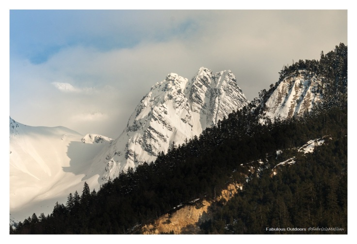 Snow on the mountain peaks