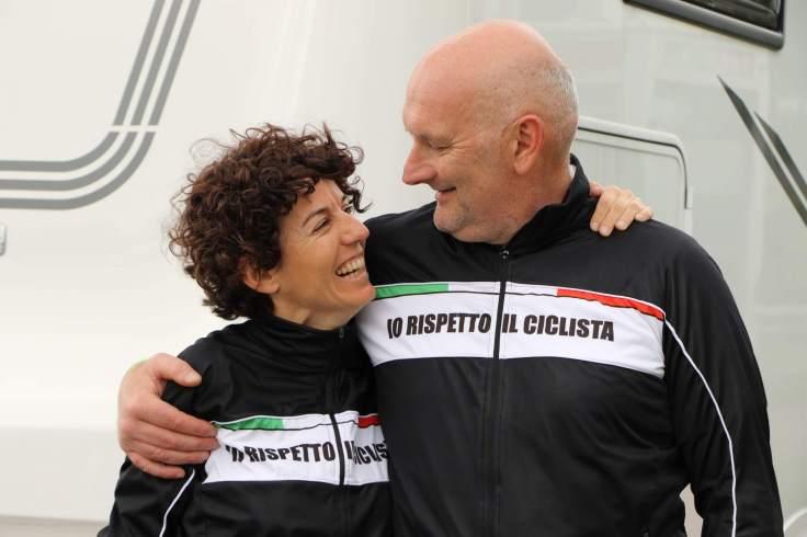 Paola Gianotti e Marco Cavorso #ioRispettoILciclista