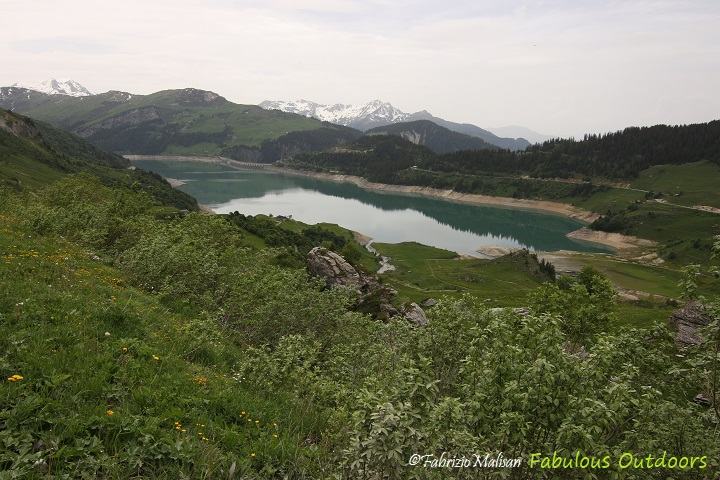 Lac de Roselend Landscape Panoramic View Fabulous Outdoors