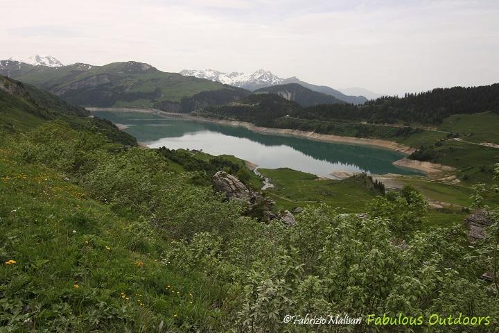 Lac de Roselend Landscape Panoramic View Fabulous Outdoors