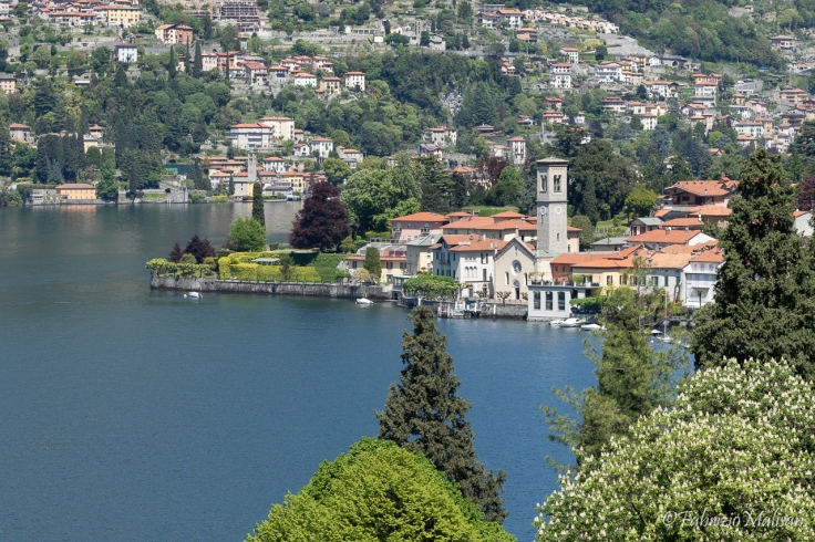 The town of Torno on Lake Como