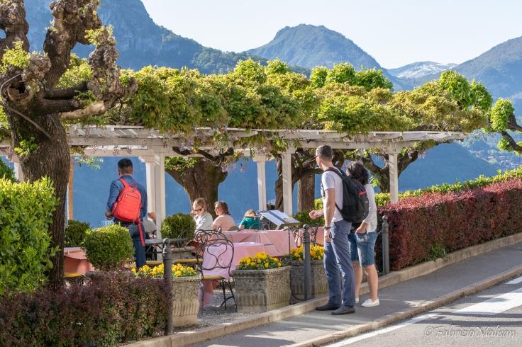 Restaurant Terrace in Bellagio over Lake Como